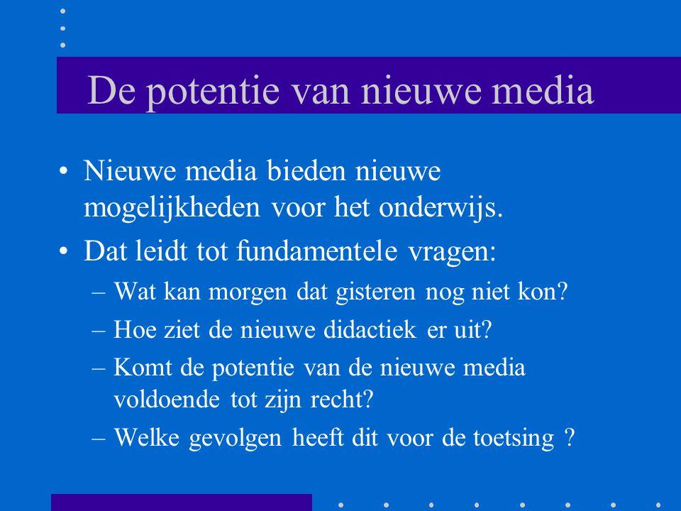 De potentie van nieuwe media •Nieuwe media bieden nieuwe mogelijkheden voor het onderwijs. •Dat leidt tot fundamentele vragen: –Wat kan morgen dat gis