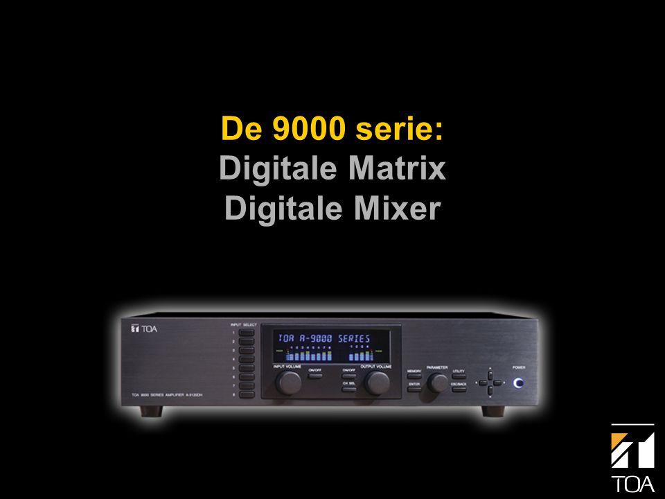 Hoofdkenmerken van de 9000 serie: • Mixer, signaalprocessor en versterker(s) • Max.