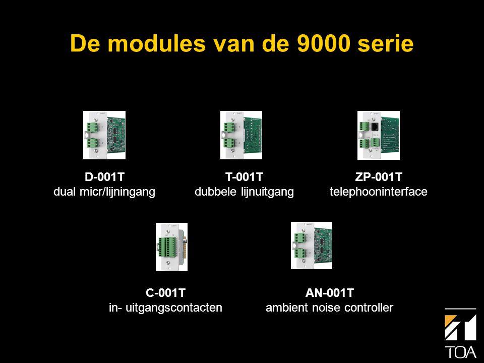 D-001T Dual Micr/Lijningangsmodule met DSP • Twee gebalanceerded Micr/ Lijningangen • Digitale signaalverwerking • 10 bands Parametrische equaliser • Lage- en hogetonenregeling • Loudness • Hoog- en laagdoorlaatfilters • Compressor • Instelb.