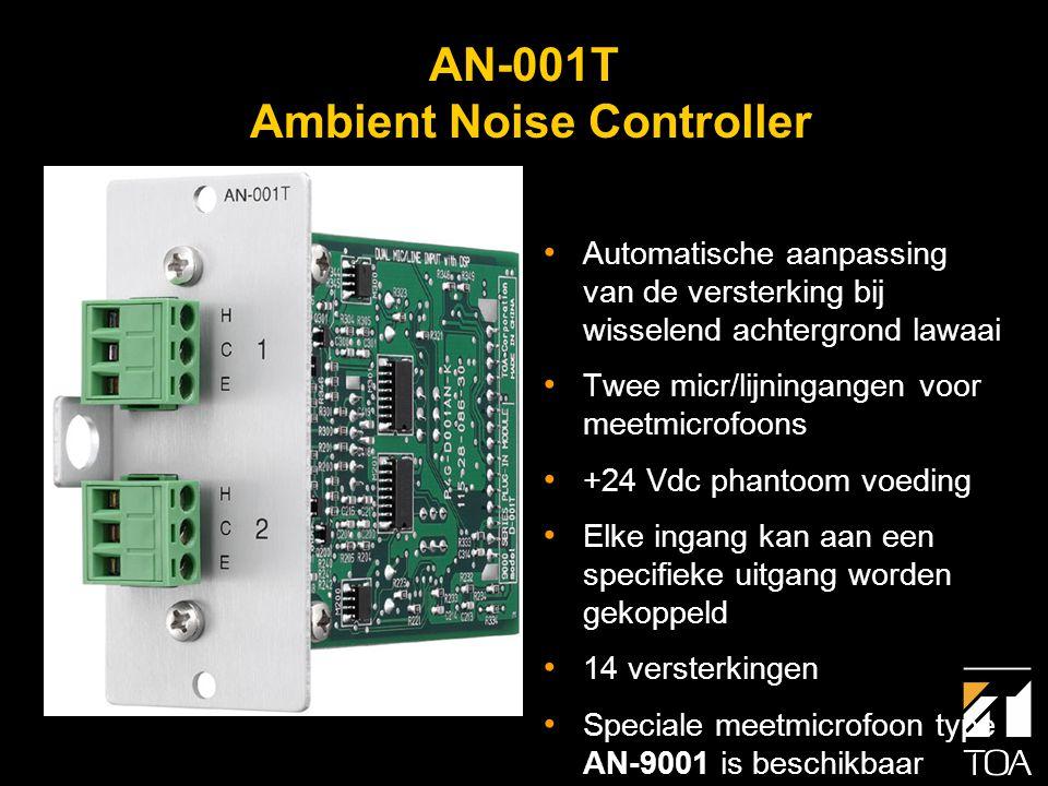 AN-9001 Meetmicrofoon voor achtergrondlawaai • Plafond- of muurbevestiging • Te gebruiken met module AN-001T of de unit type DP-L2 • Past op een standaard (Am.) inbouwdoos