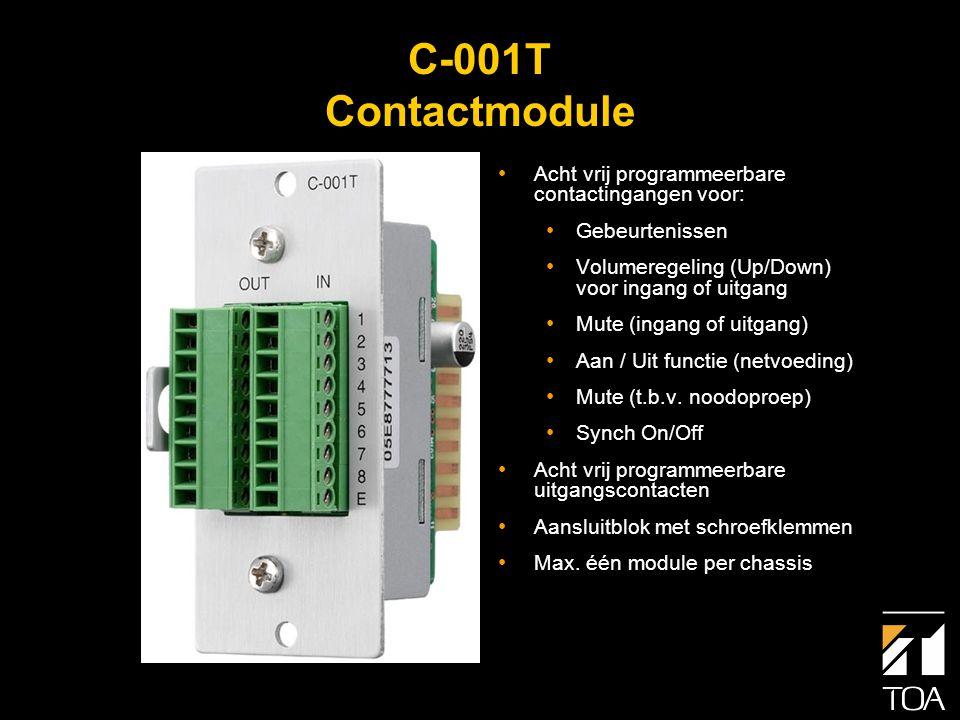 Compatibiliteit • Alle bestaande 900 serie modules zijn toepasbaar in de nieuwe 9000 serie, in de modulepoorten van de A-9060DH, A-9120DH en M-9000.