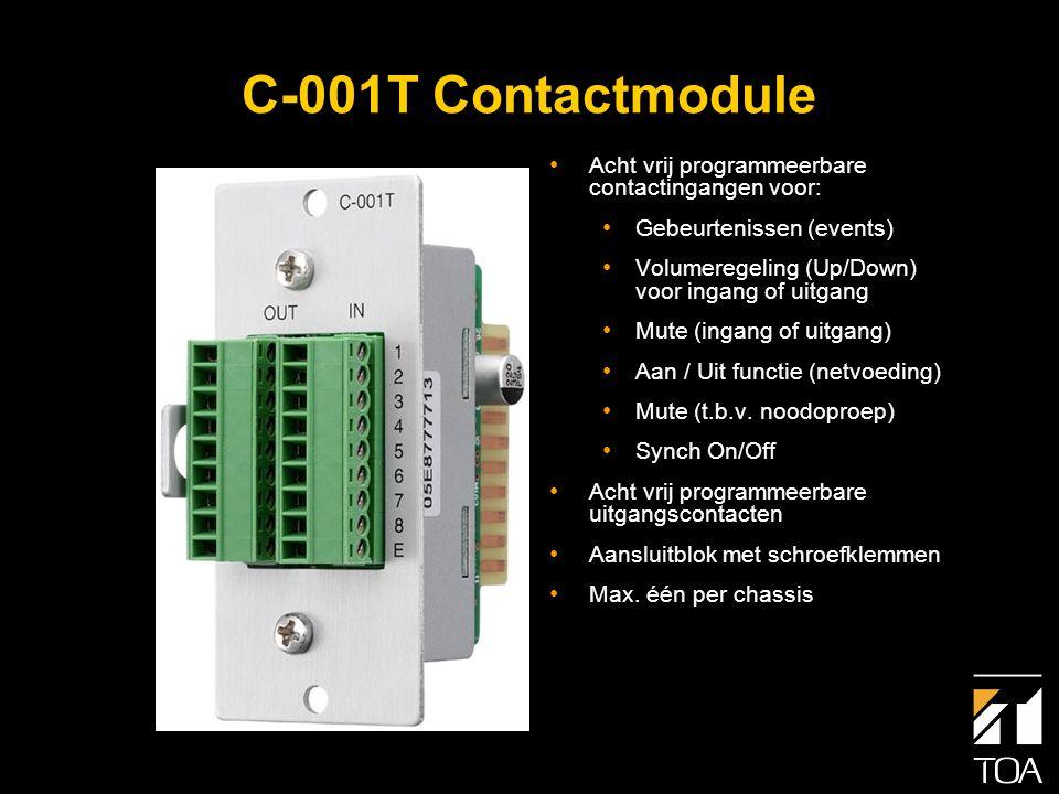 C-001T Contactmodule Stuuringangen (8) (kortsluitcontact) Stuuruitgangen (8) (open collector)