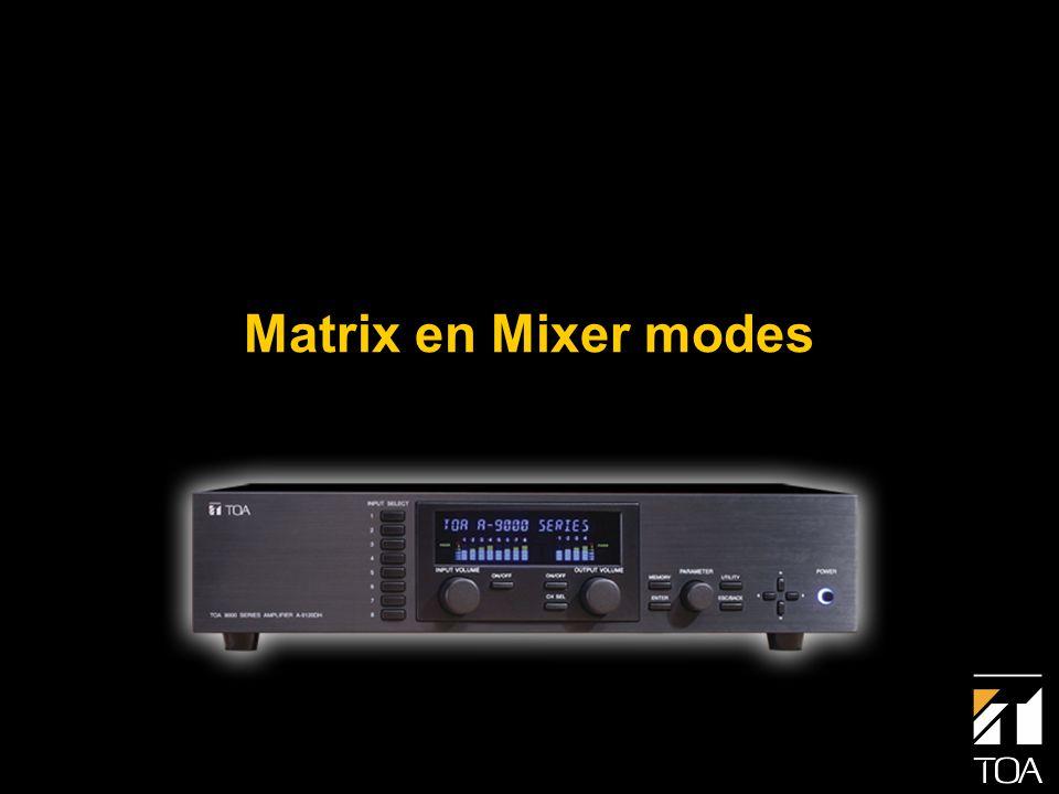 Bediening • Matrix Mode • 1 ingang naar max.