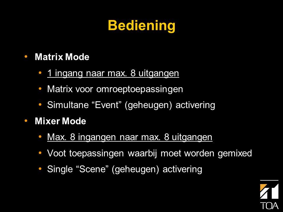 Keuzeschakelaar Matrix/Mixer