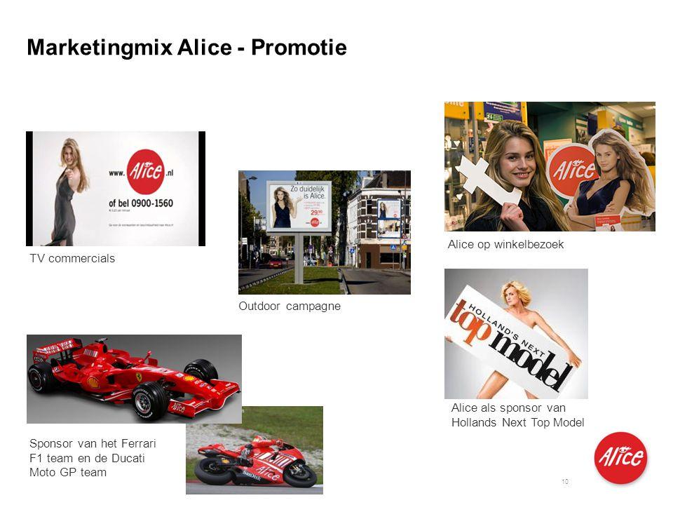 Produkte für Privatkunden und kleine Geschäftskunden I M I 04.06.2007 10 Sponsor van het Ferrari F1 team en de Ducati Moto GP team Alice op winkelbezo