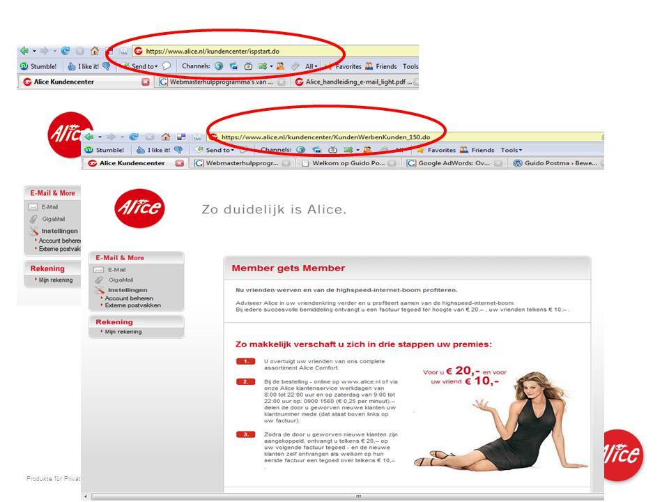 Produkte für Privatkunden und kleine Geschäftskunden I M I 04.06.2007