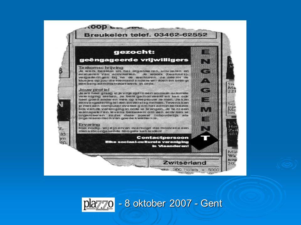 - 8 oktober 2007 - Gent
