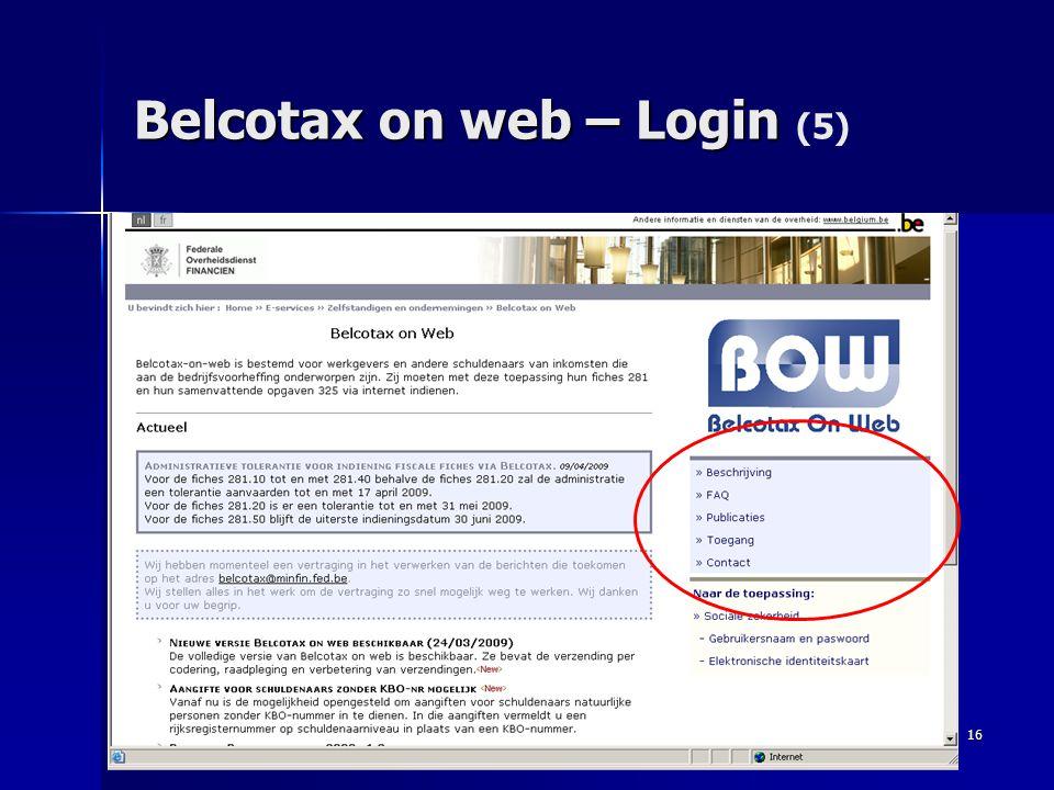16 Belcotax on web – Login Belcotax on web – Login (5)