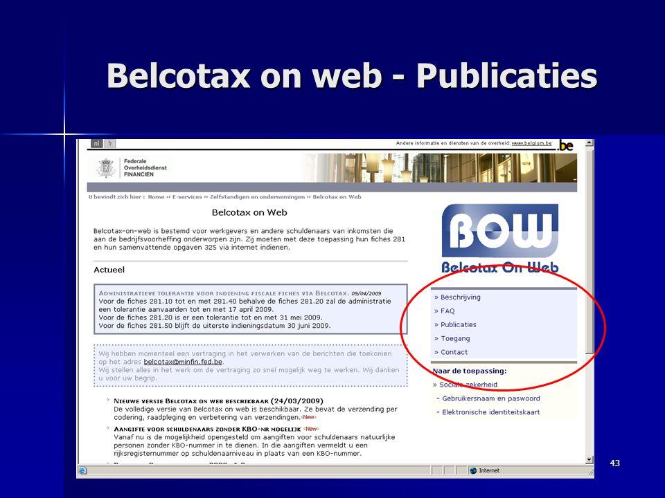 43 Belcotax on web - Publicaties