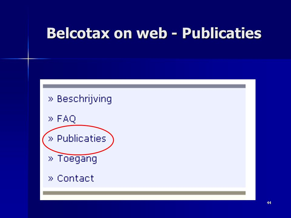 44 Belcotax on web - Publicaties