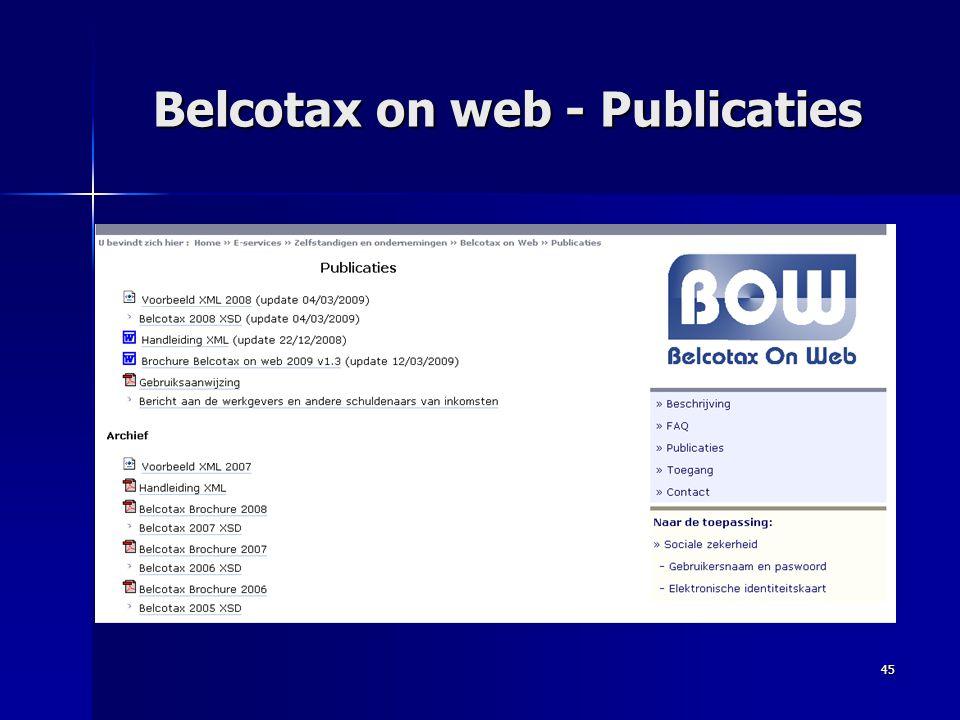 45 Belcotax on web - Publicaties