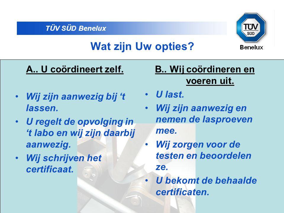TÜV SÜD Benelux U kan vooraf een prijsofferte laten maken.