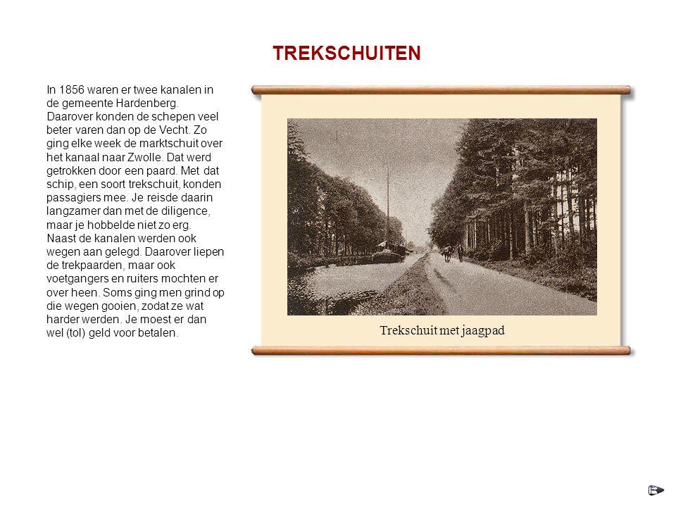 In 1856 waren er twee kanalen in de gemeente Hardenberg.