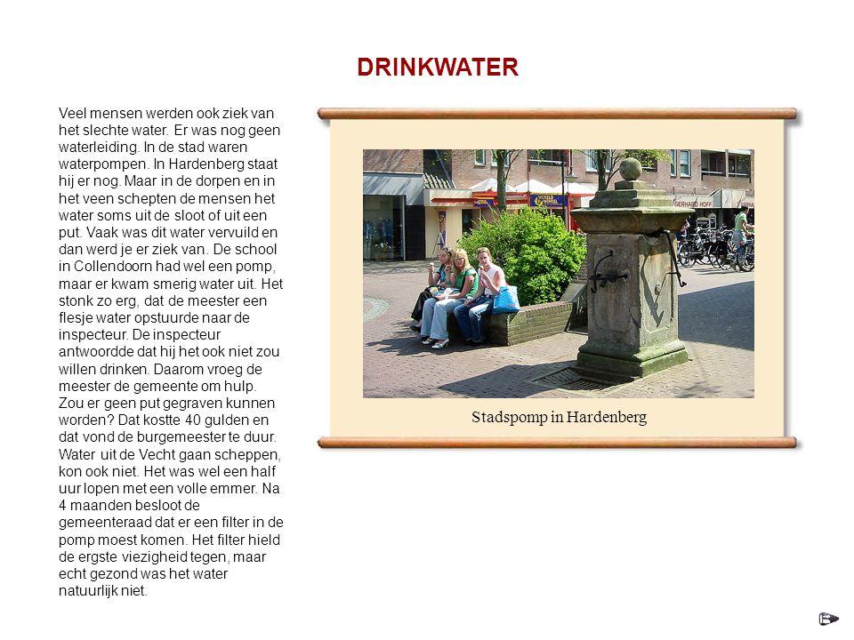 Veel mensen werden ook ziek van het slechte water.
