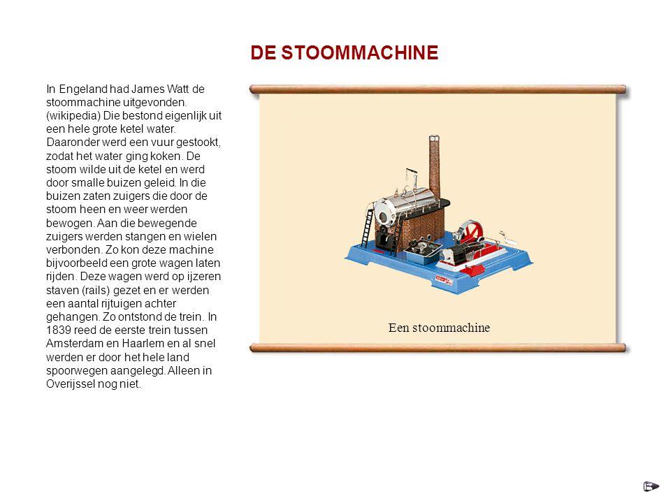 In Engeland had James Watt de stoommachine uitgevonden.