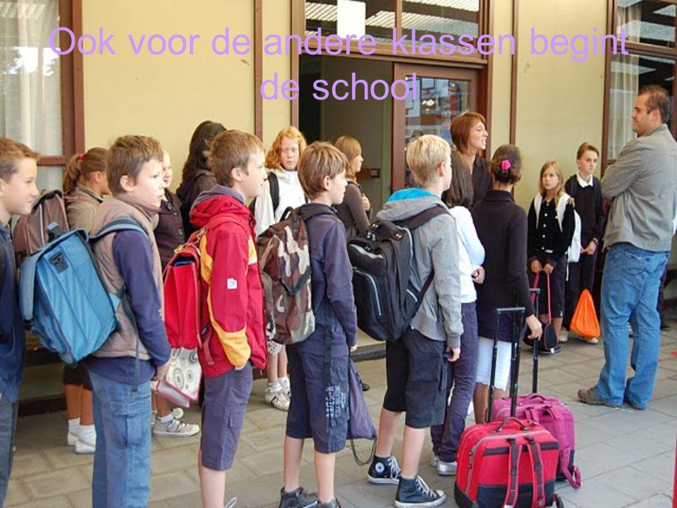 Ook voor de andere klassen begint de school