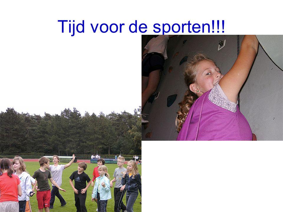 Tijd voor de sporten!!!