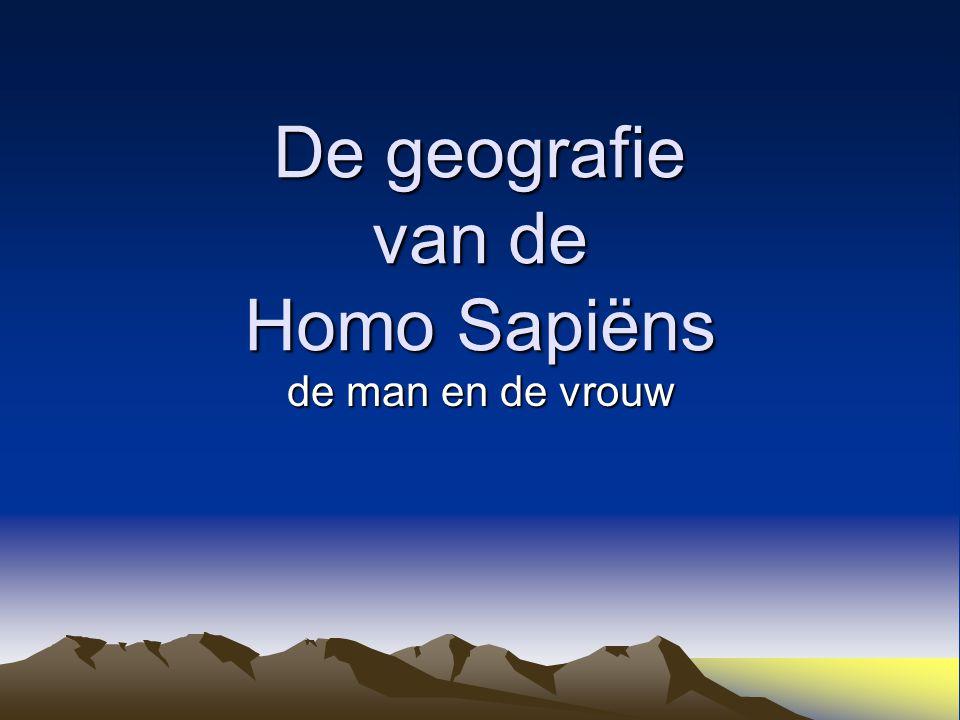 De geografie van de Homo Sapiëns de man en de vrouw
