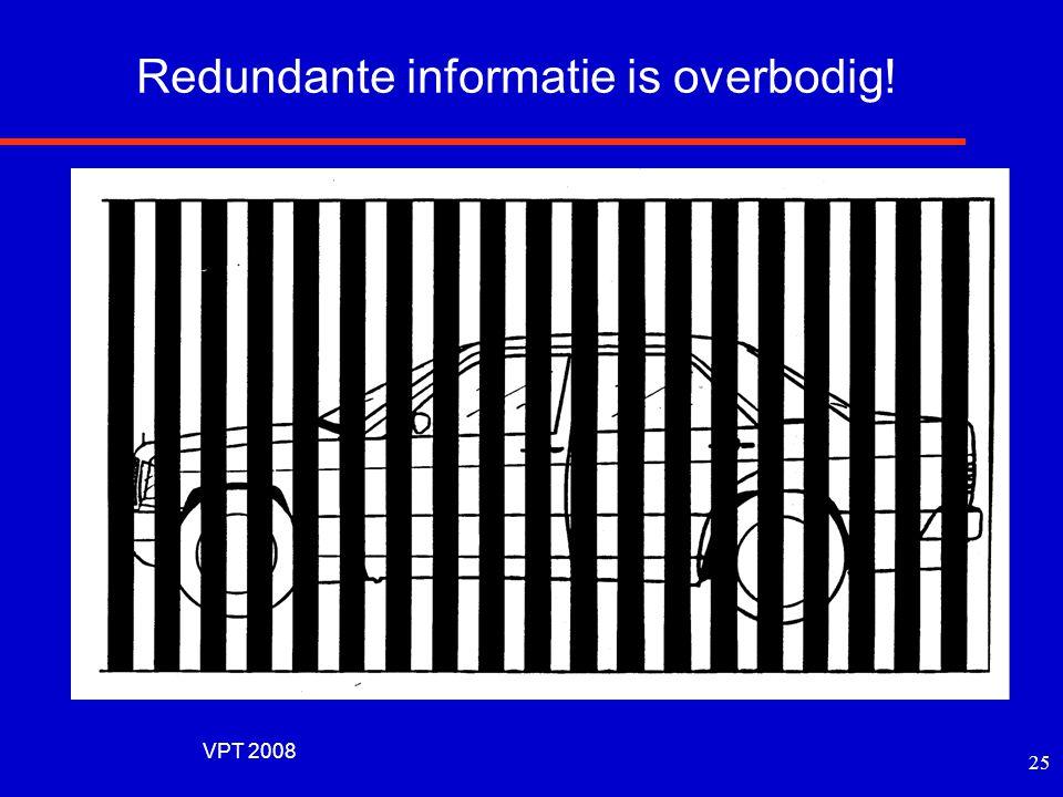 VPT 2008 24 Optimale frequentieweging De bijdrage per frequentieband hangt af van het type spraak