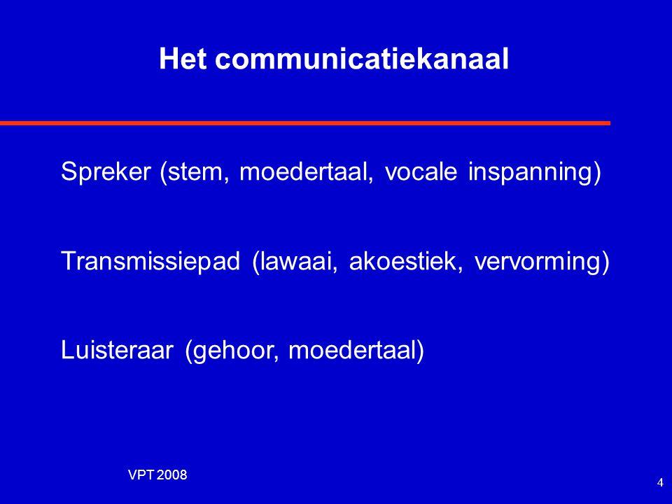 VPT 2008 3 Het communicatiekanaal