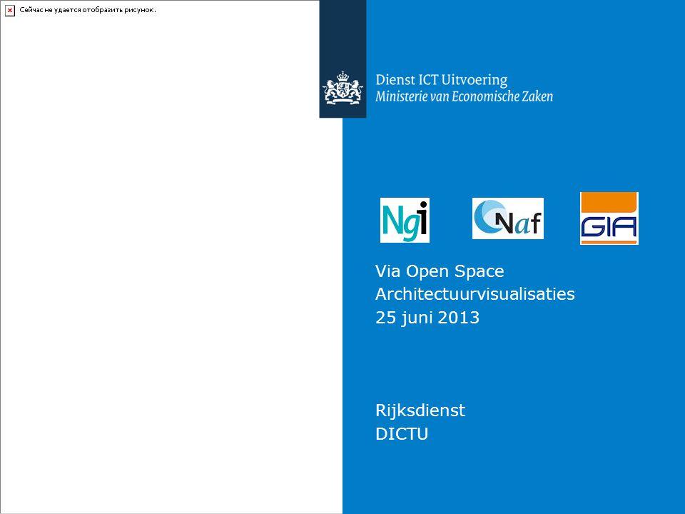 Via Open Space Architectuurvisualisaties 25 juni 2013 Rijksdienst DICTU