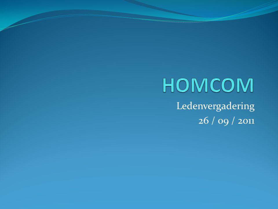 Ledenvergadering 26 / 09 / 2011