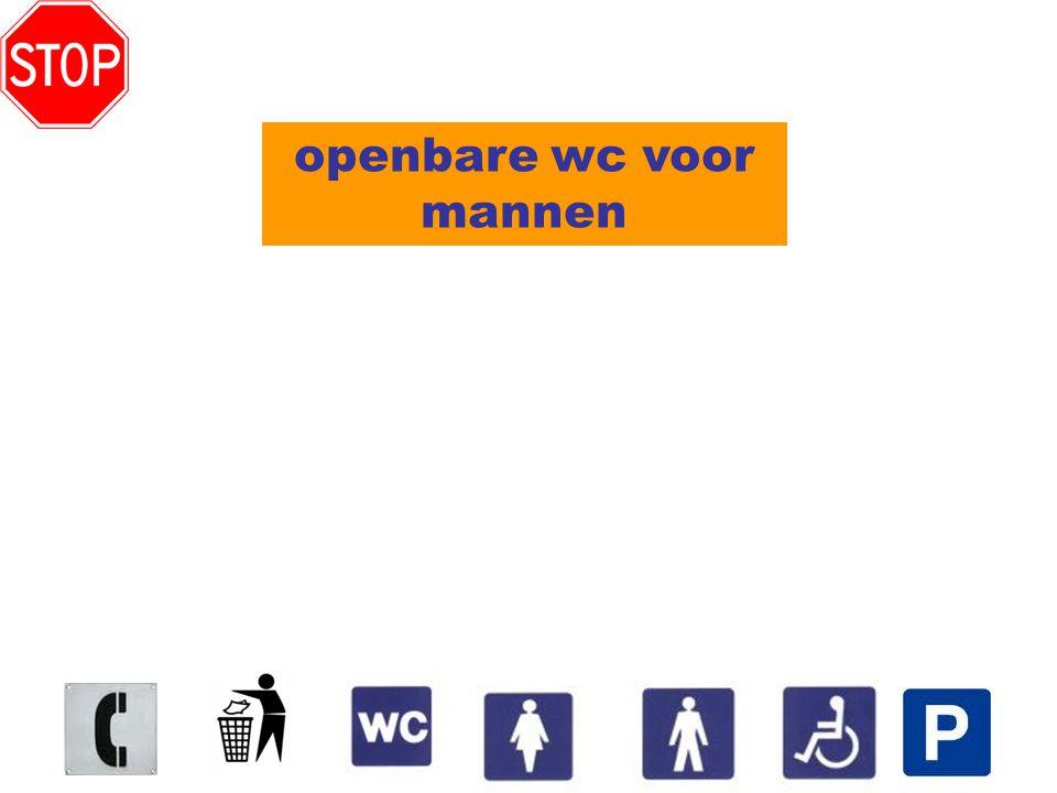 openbare wc voor mannen