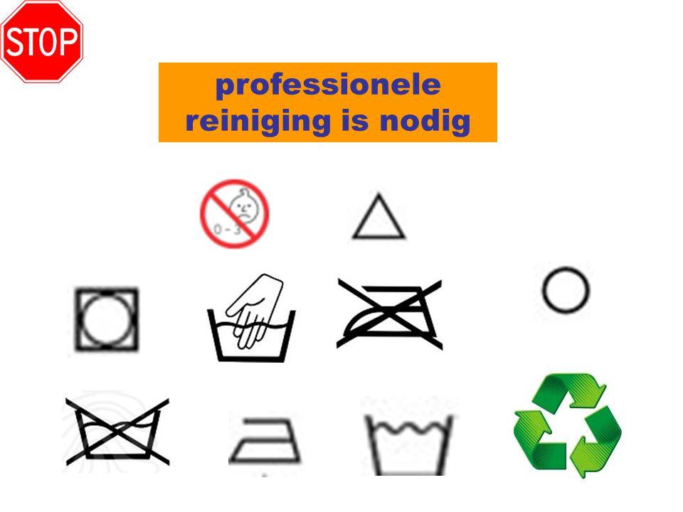 professionele reiniging is nodig