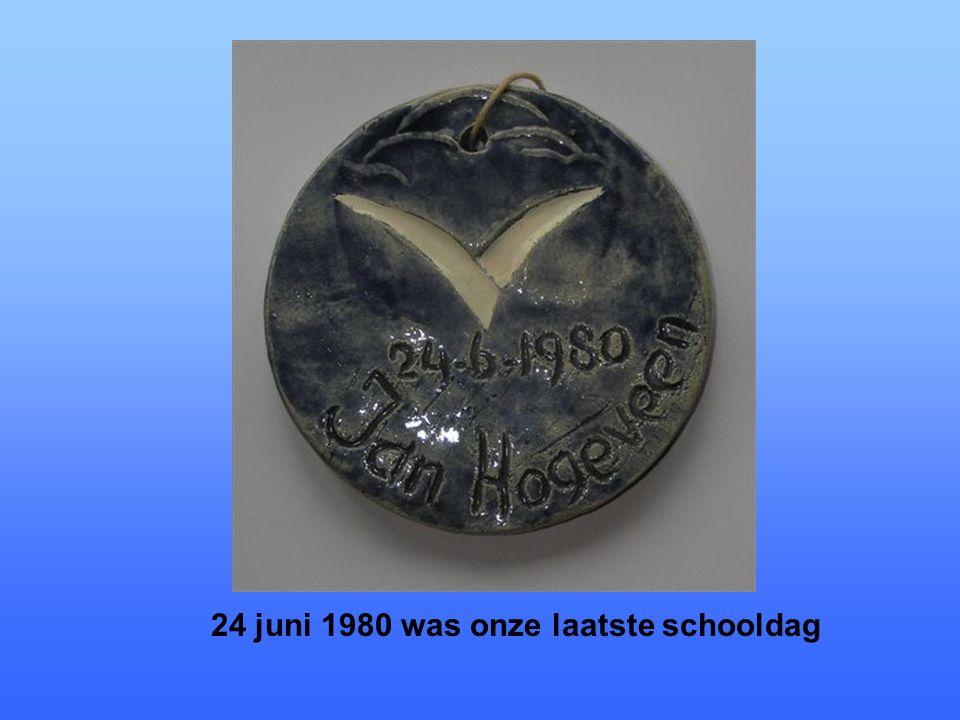 24 juni 1980 was onze laatste schooldag