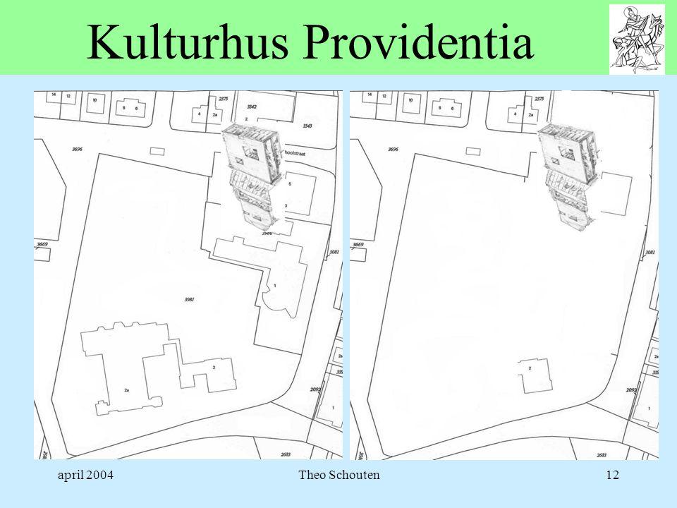 april 2004Theo Schouten12 Kulturhus Providentia