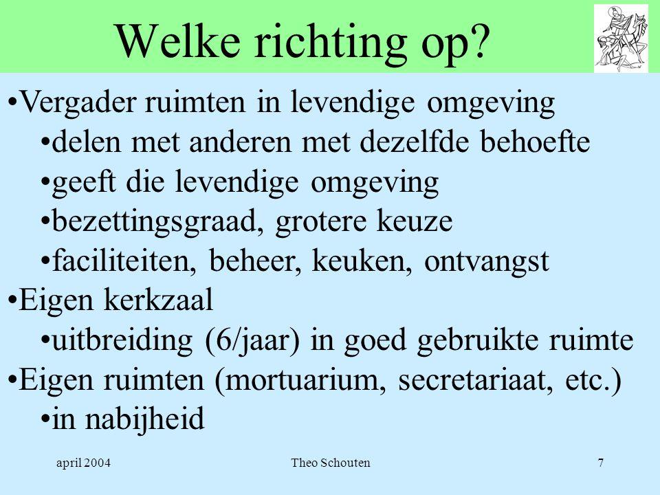 april 2004Theo Schouten7 Welke richting op.