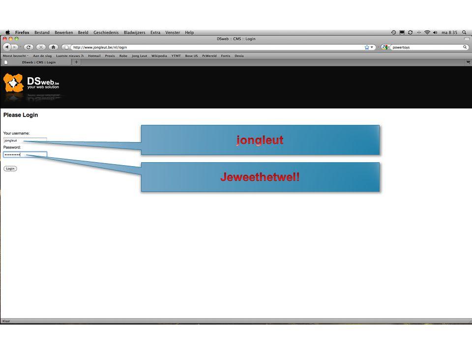 Maken van een link naar een website (eerst tekst selecteren) Verwijderen van een link (eerst tekst selecteren) Toevoegen van een foto die reeds op het WWW staat Toevoegen van een nieuwe foto Verwijderen van de opmaak Maken van een tabel (want tabs werken niet)