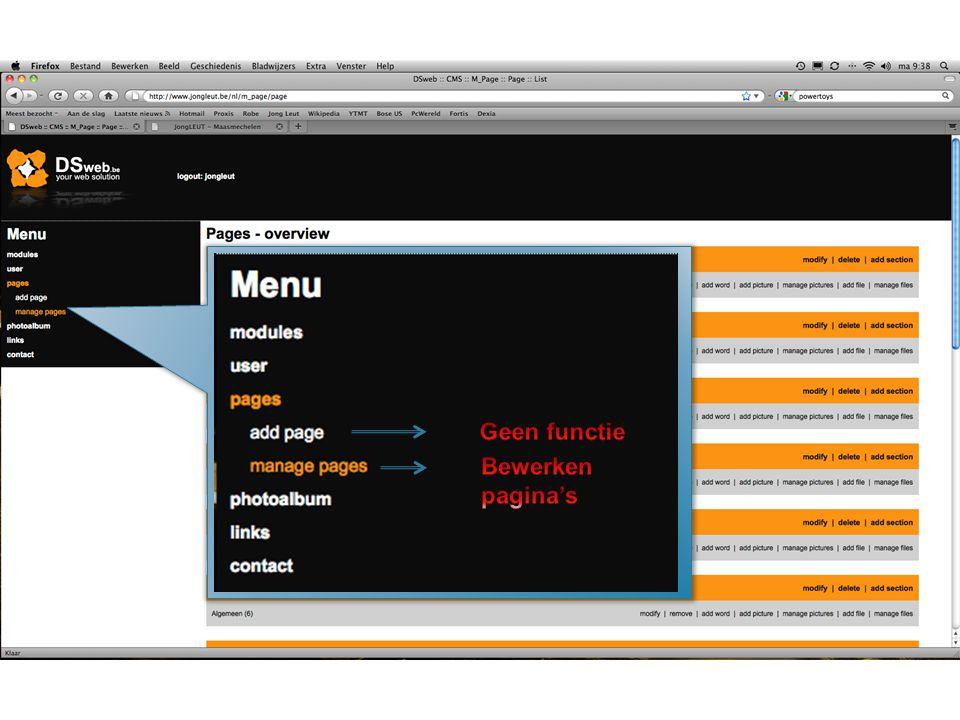 Invullen webadres voorafgegaan door http:// Beschrijving die weergegeven wordt als je met de muis over foto gaat Uitlijnen links–midden–rechts Bevestig Annuleer Grote Breedte x Hoogte in pix.