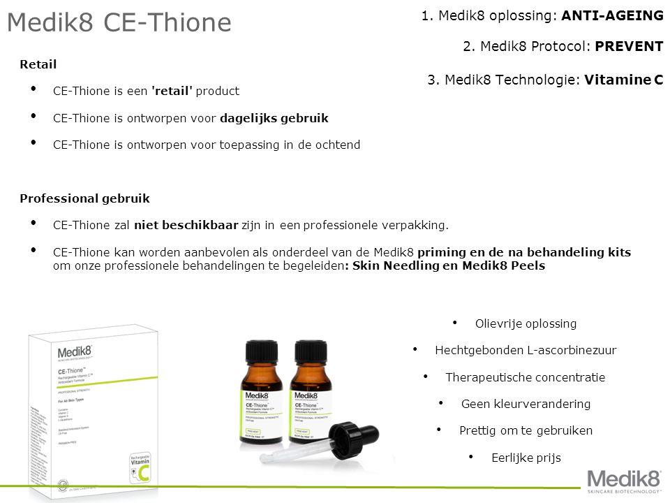 Medik8 CE-Thione Retail • CE-Thione is een retail product • CE-Thione is ontworpen voor dagelijks gebruik • CE-Thione is ontworpen voor toepassing in de ochtend Professional gebruik • CE-Thione zal niet beschikbaar zijn in een professionele verpakking.