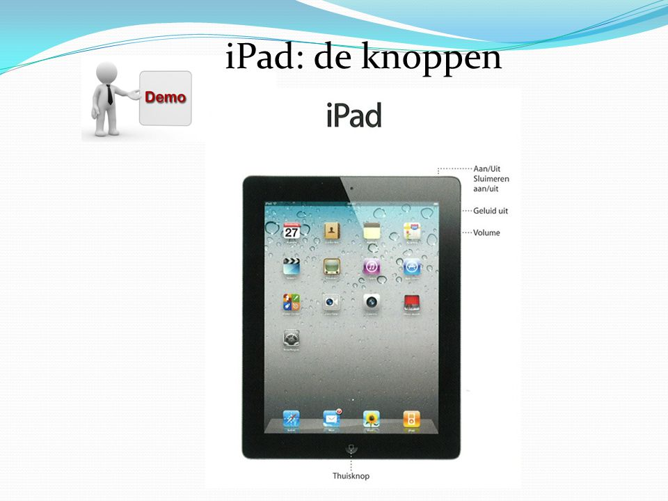 iPad: de knoppen