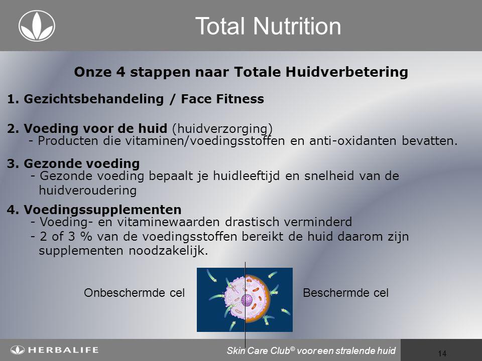 Voeding voor een beter leven 14 Total Nutrition Onze 4 stappen naar Totale Huidverbetering 3.
