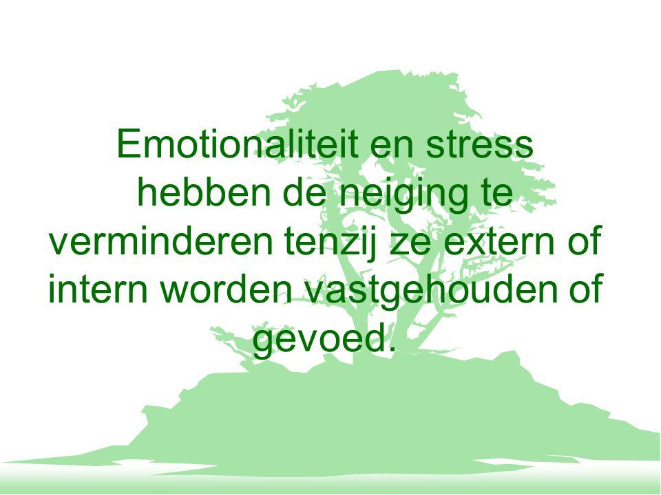 Gevoelens als voorbijgaand ervaren, tenzij ze extern of intern worden gevoed.