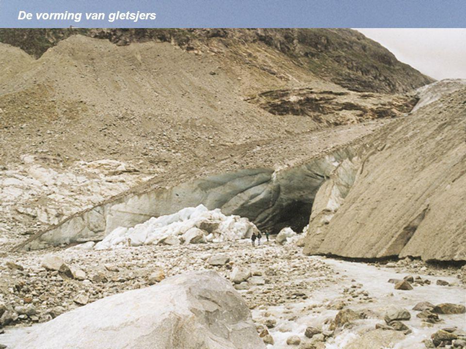 Transport door gletsjers oppervlaktemorene gletsjerfront