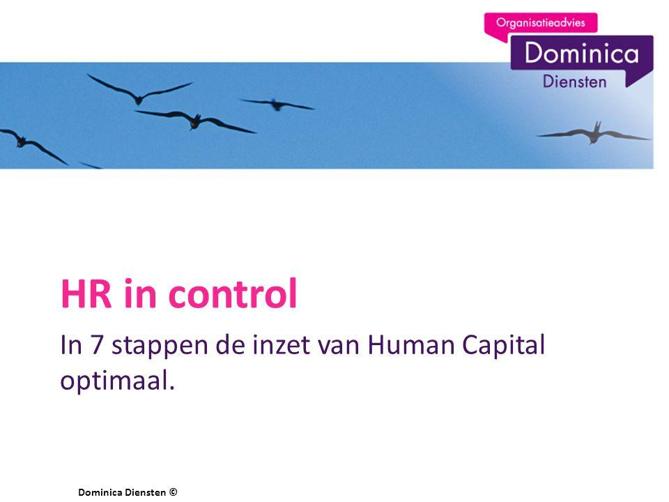 In 7 stappen de inzet van Human Capital optimaal. HR in control Dominica Diensten ©