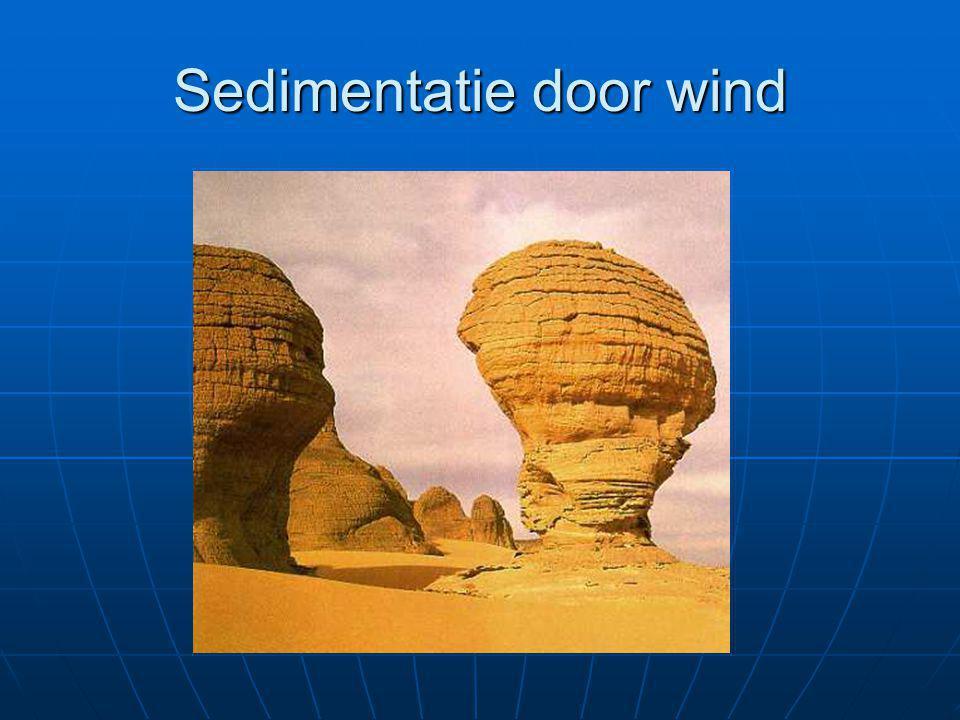 Sedimentatie door wind
