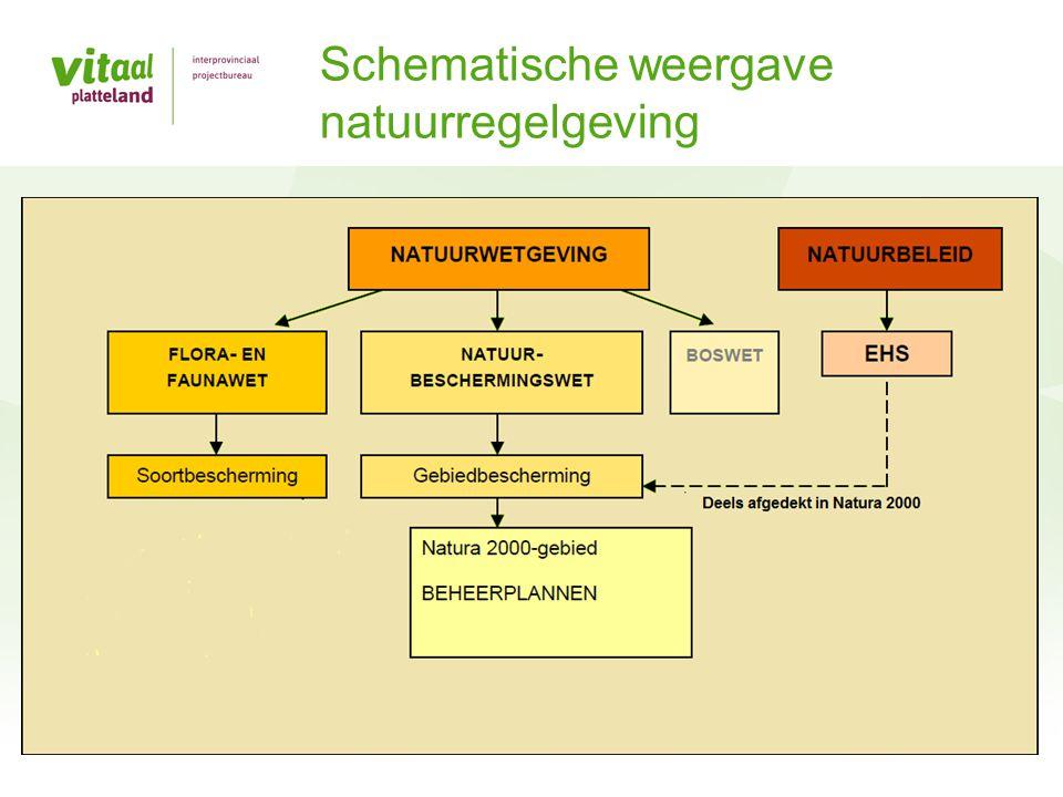 Schematische weergave natuurregelgeving