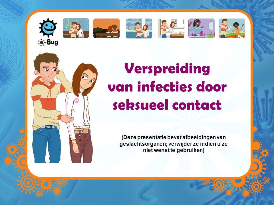 Verspreiding van infecties door seksueel contact (Deze presentatie bevat afbeeldingen van geslachtsorganen; verwijder ze indien u ze niet wenst te geb