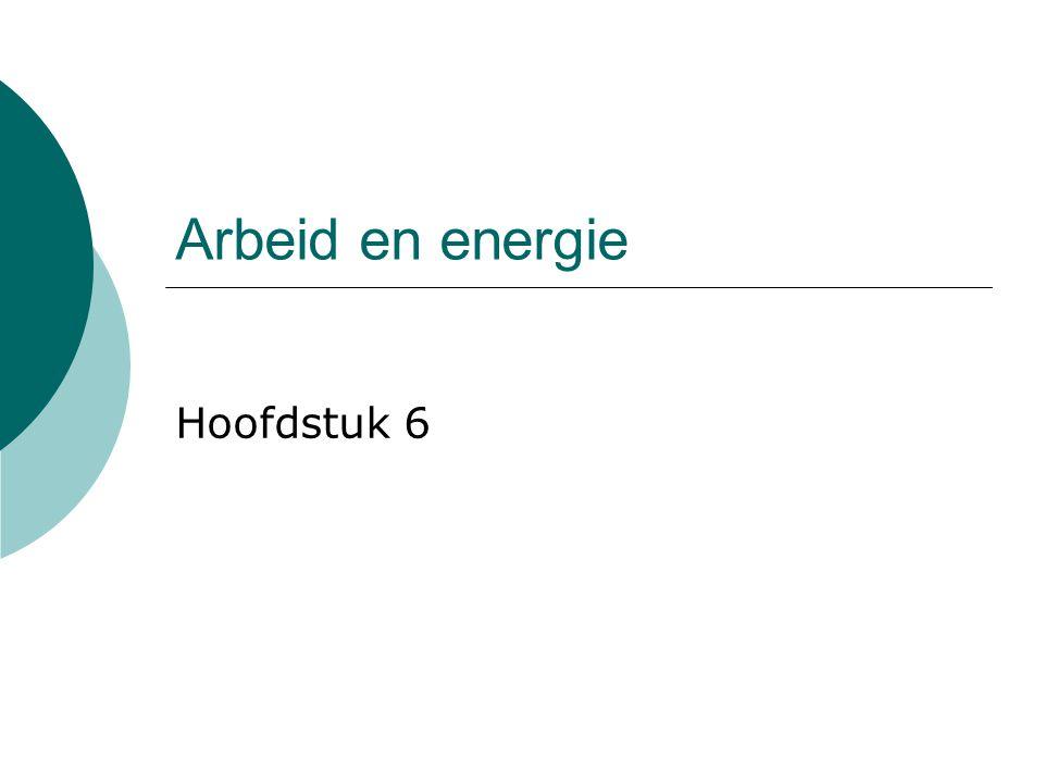 Arbeid en energie Hoofdstuk 6