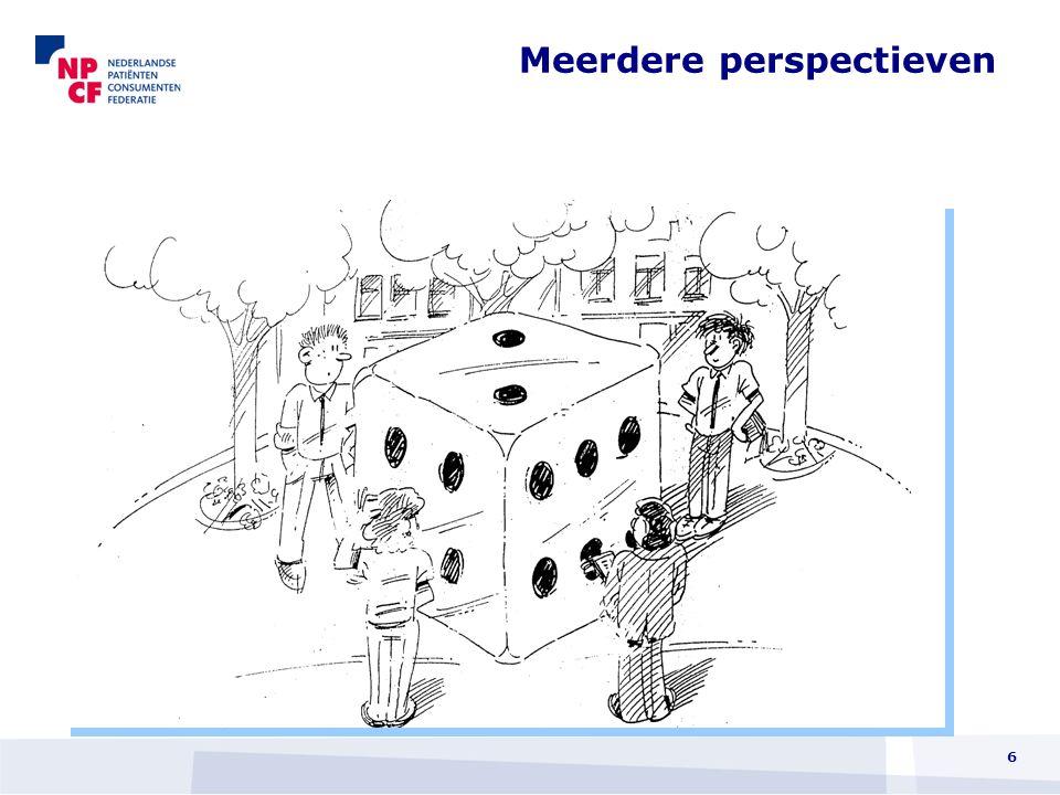 Dus Kwaliteitsverbetering vanuit cliëntenperspectief  In dialoog met de patiënt  In een positieve dynamiek  Met focus op resultaat 7