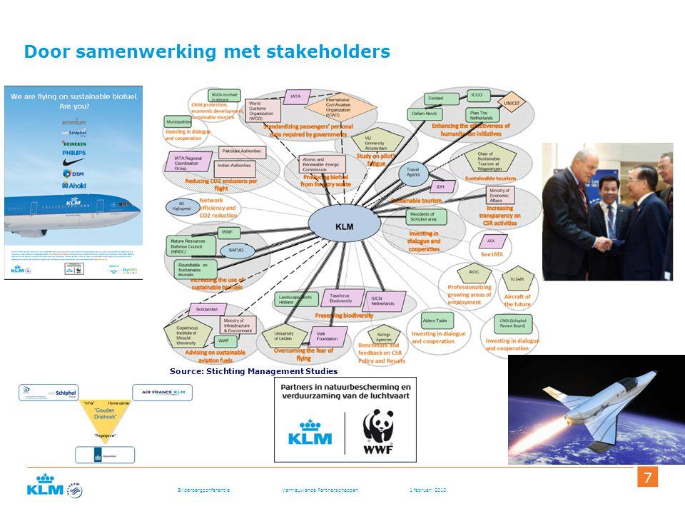 Bilderbergconferentie Vernieuwende Partnerschappen 1 februari 2013 7 Door samenwerking met stakeholders Source: Stichting Management Studies