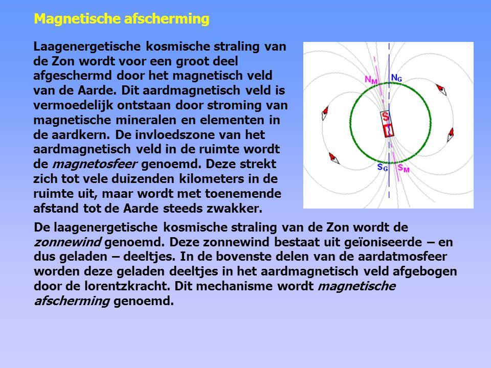 Voor de lagere regionen van de atmosfeer vormt de magnetosfeer een soort schild tegen de geladen deeltjes uit de zonnewind.