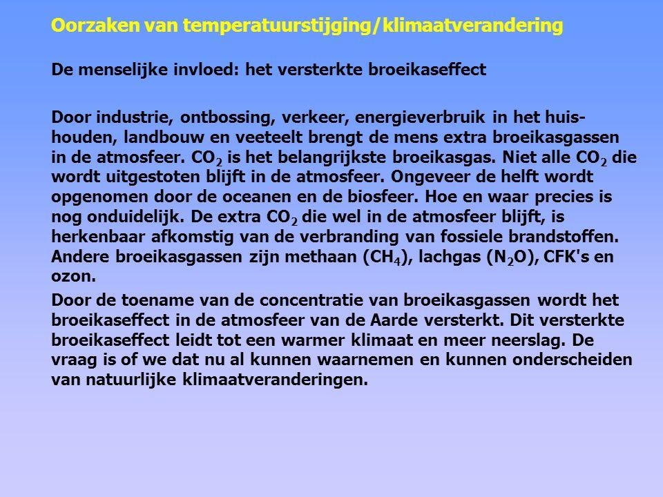 Het broeikaseffect zonder broeikasgassen: ≈ –20 °C met broeikasgassen: ≈ +15 °C broeikasgassen zijn er van nature.