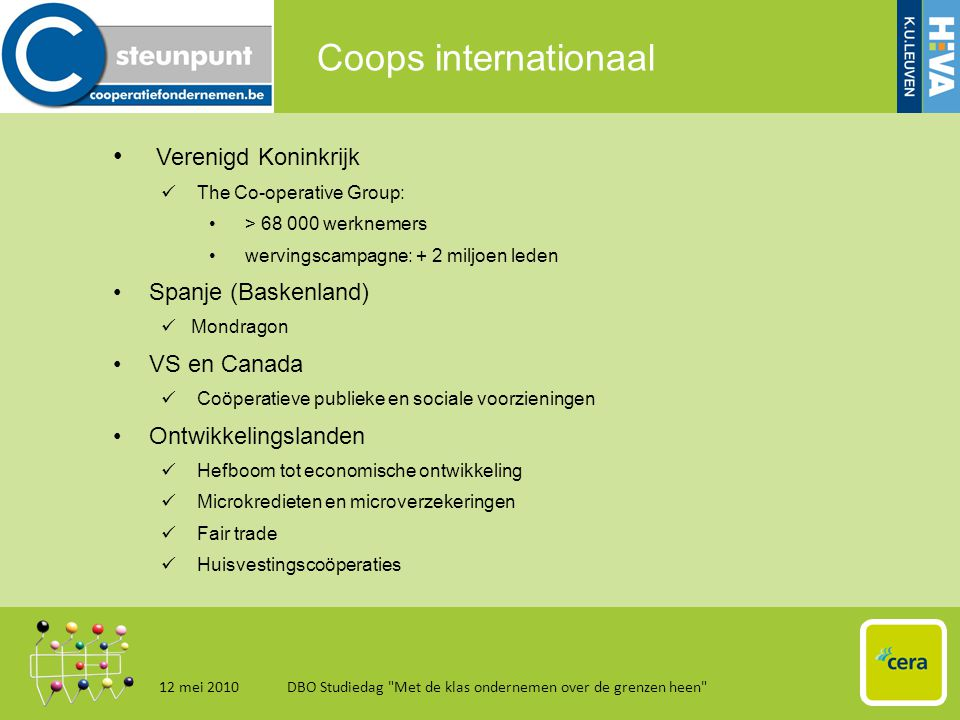 Coops internationaal 12 mei 2010DBO Studiedag