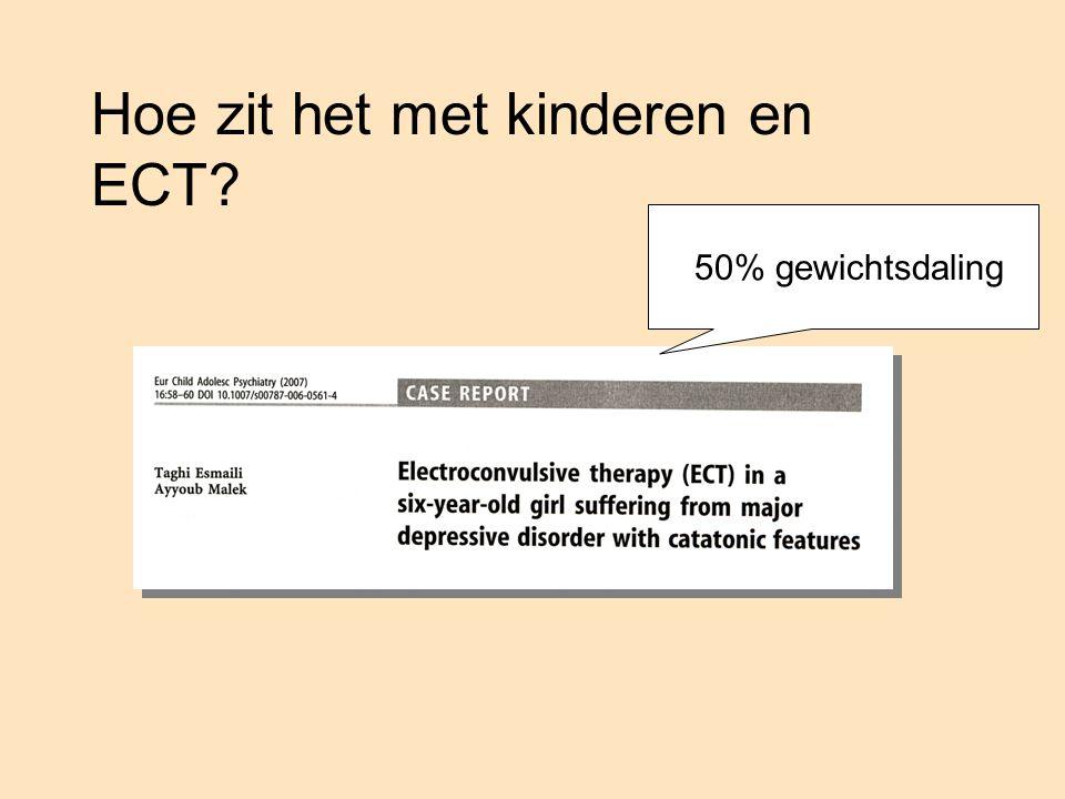 Hoe zit het met kinderen en ECT? 50% gewichtsdaling