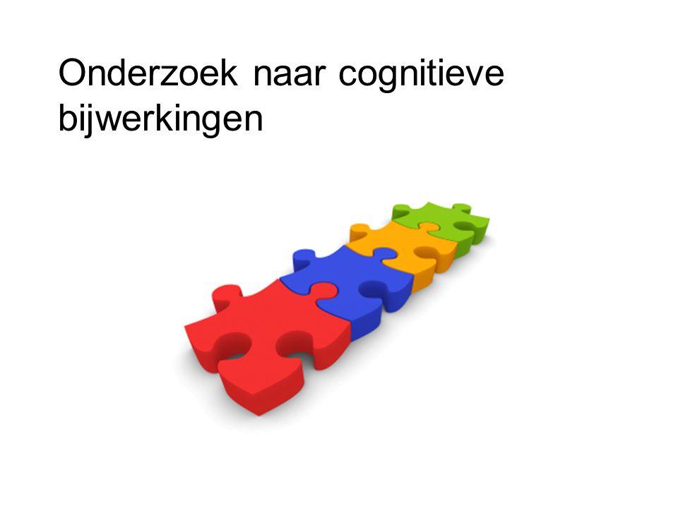 Onderzoek naar cognitieve bijwerkingen